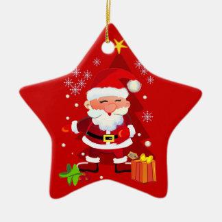 Christmas santa ornament