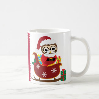 Christmas Santa Owl Classic White Coffee Mug