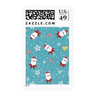 Christmas Santa pattern Postage Stamps