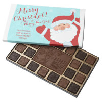 Christmas Santa Personalized 45 Piece Box Of Chocolates