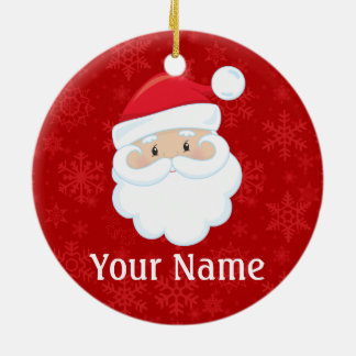 Christmas Santa Personalized Ceramic Ornament