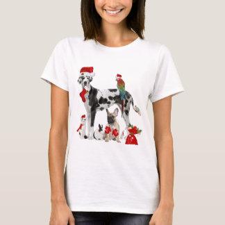 Christmas Santa Pets T-Shirt