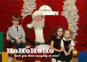 christmas santa photo naughty or nice holiday card - Naughty Or Nice Christmas Card