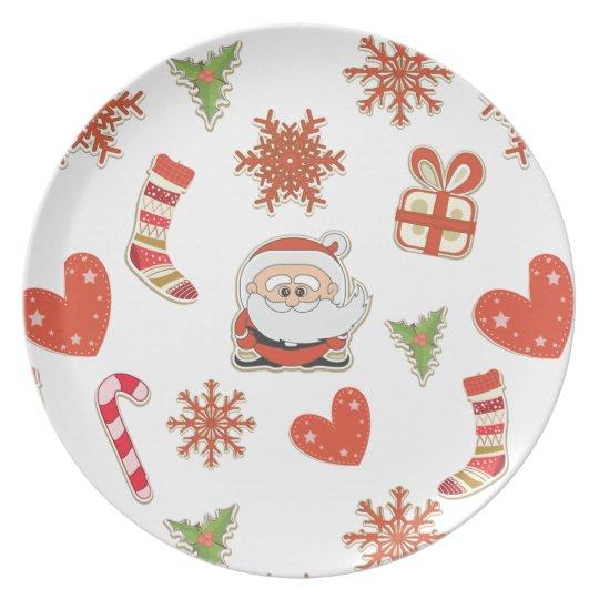 christmas santa plates