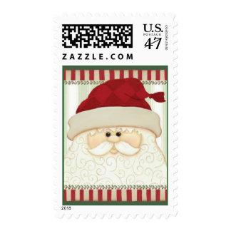 Christmas Santa postage stamp