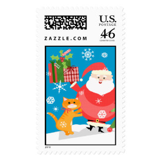 Christmas Santa Postage Stamp Custom
