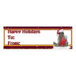 Christmas Santa Raccoon Bandit Business Cards