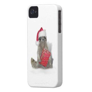 Christmas Santa Raccoon Bandit iPhone 4 Case