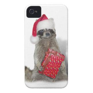 Christmas Santa Raccoon Bandit iPhone 4 Cover