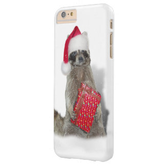 Christmas Santa Raccoon Bandit Barely There iPhone 6 Plus Case
