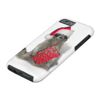 Christmas Santa Raccoon Bandit Tough iPhone 6 Case