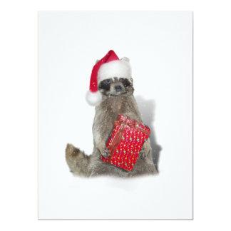 Christmas Santa Raccoon Bandit Custom Announcement