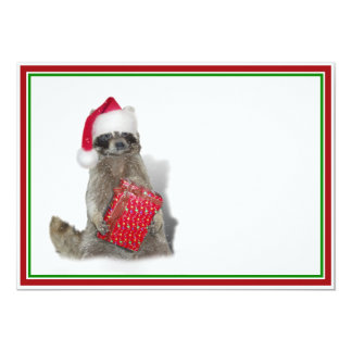 Christmas Santa Raccoon Bandit Invites