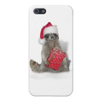 Christmas Santa Raccoon Bandit iPhone 5 Cases