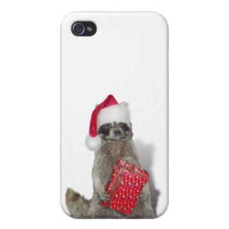 Christmas Santa Raccoon Bandit iPhone 4/4S Covers