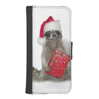 Christmas Santa Raccoon Bandit iPhone 5 Wallet