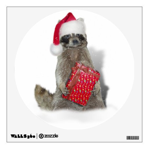 Christmas Santa Raccoon Bandit Room Graphics