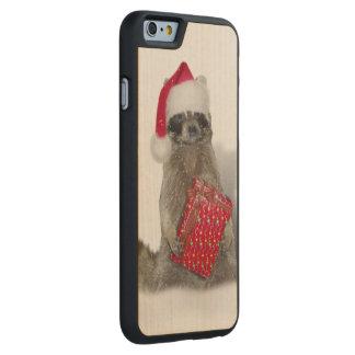 Christmas Santa Raccoon Bandit Carved® Maple iPhone 6 Case