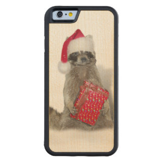 Christmas Santa Raccoon Bandit Carved® Maple iPhone 6 Bumper Case