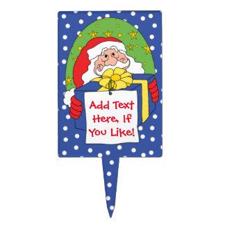 Christmas/Santa Rectangle Cakepick