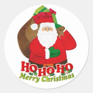 Christmas Santa red & green sticker