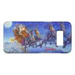 Christmas Santa Reindeer Gift Wrap Custom Name Case-Mate Samsung Galaxy S8 Case