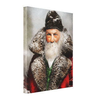 Christmas - Santa - Saint Nicholas 1895 Canvas Print