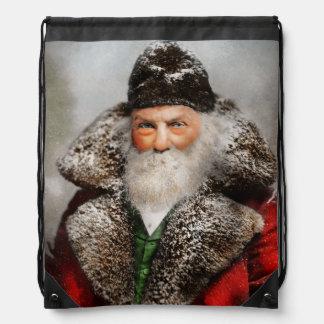Christmas - Santa - Saint Nicholas 1895 Drawstring Bag