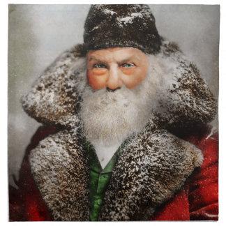 Christmas - Santa - Saint Nicholas 1895 Napkin