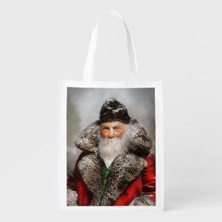 Christmas - Santa - Saint Nicholas 1895 Reusable Grocery Bag