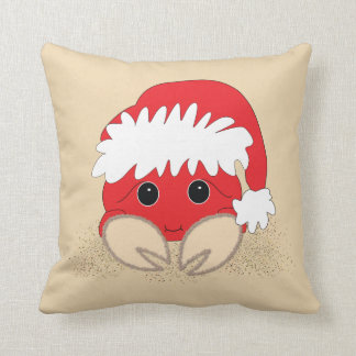 Christmas Santa Sandy Crab Pillow