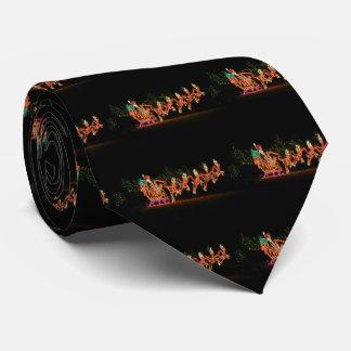 Christmas Santa Sleigh  2016 Neck Tie