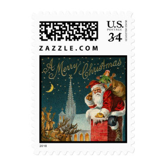 Christmas Santa Sleigh  - Stamps