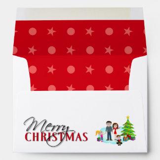 Christmas Santa Smiley Envelope
