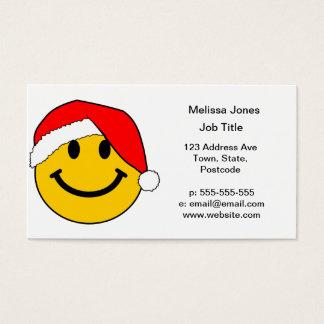 Christmas Santa Smiley Face Business Card