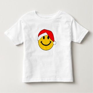 Christmas Santa Smiley Face Toddler T-shirt