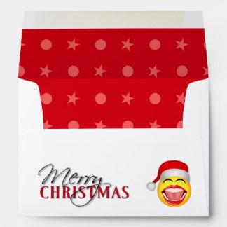 Christmas Santa Smiley Funny Christmas Envelope