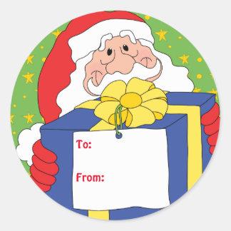 Christmas Santa Stickers. Personalize. Classic Round Sticker