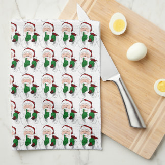 Christmas Santa Towel Custom Holiday Tea Towels