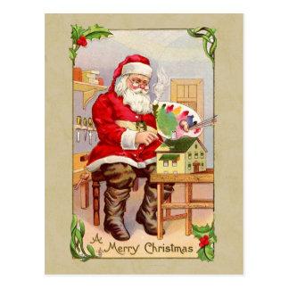 Christmas Santa Vintage Reproduction Postcard