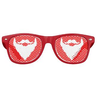 Christmas Santa's beard party glass Retro Sunglasses