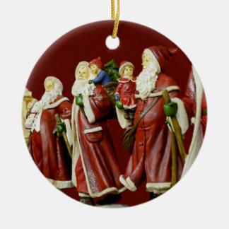 Christmas Santas Saint Nick Holiday Gifts Ceramic Ornament