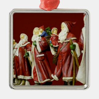 Christmas Santas Saint Nick Holiday Gifts Metal Ornament