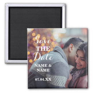 Christmas Save The Date Magnet Couple's Wedding