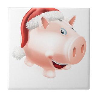 Christmas savings piggy bank ceramic tile