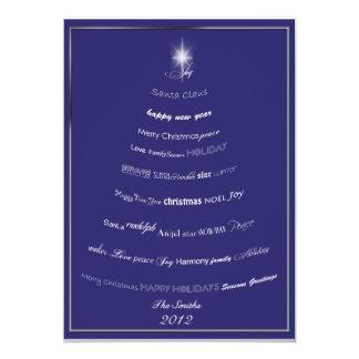 Christmas Sayings Tree Greeting Card