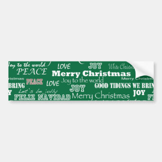 Christmas Sayings Typography Bumper Sticker