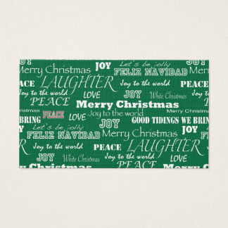 Christmas Sayings Typography Business Card