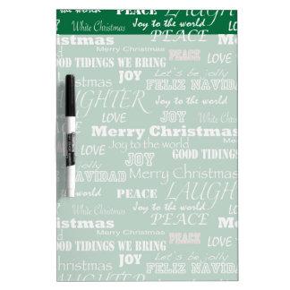Christmas Sayings Typography Dry-Erase Board