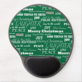 Christmas Sayings Typography Gel Mouse Pad